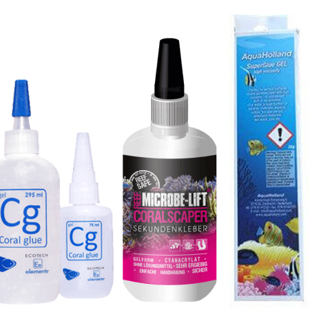 Secondary adhesives for corals