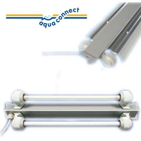 Aqua-Connect T5 TL beam triangular 2 x 24w - length 63 cm. width 13 cm.