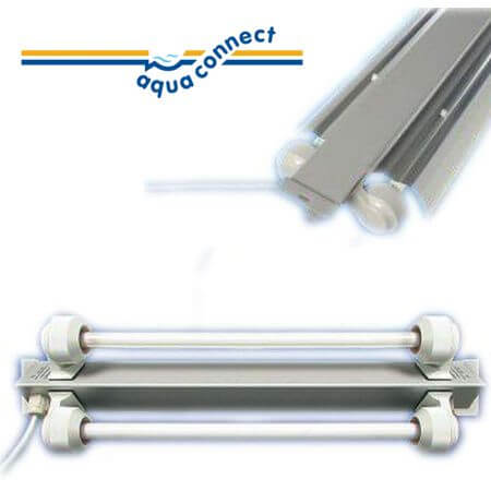 Aqua-Connect T5 TL beam triangular 2 x 39w - length 93cm. width 13 cm
