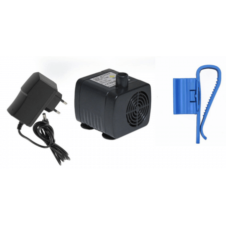 Aqua Light Mini water pump + transformer and hose holder - 12V, 200l / h