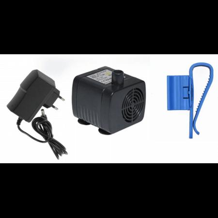 Aqua Light Mini water pump + transformer and hose holder - 12V, 200l / h