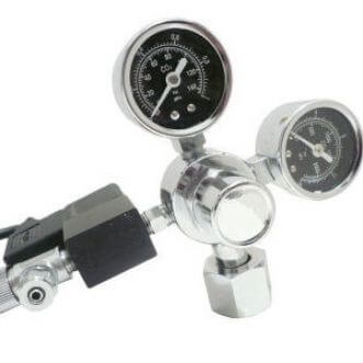 AquaHolland CO2 pressure regulator with 2 manometers & solenoid valve