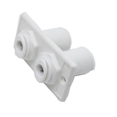 Double grommet for screwing into wall for hose 6mm - 4 x quick-fit image