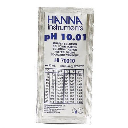 Hanna Calibration liquid pH 10.01 1 bag of 20 ml.