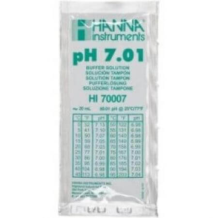 Hanna Calibration liquid pH 7.01 1 bag of 20 ml.