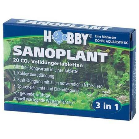 Hobby Sanoplant, CO2 fertilizer tablets, 20 tablets