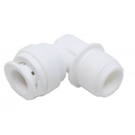 "Knee for osmosis hose 9mm - 1 x quick-fit connection - 1 x 3/8 ""thread"