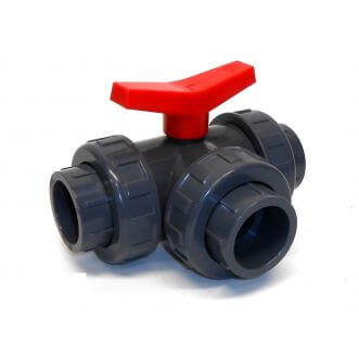 PVC ball valve three-way