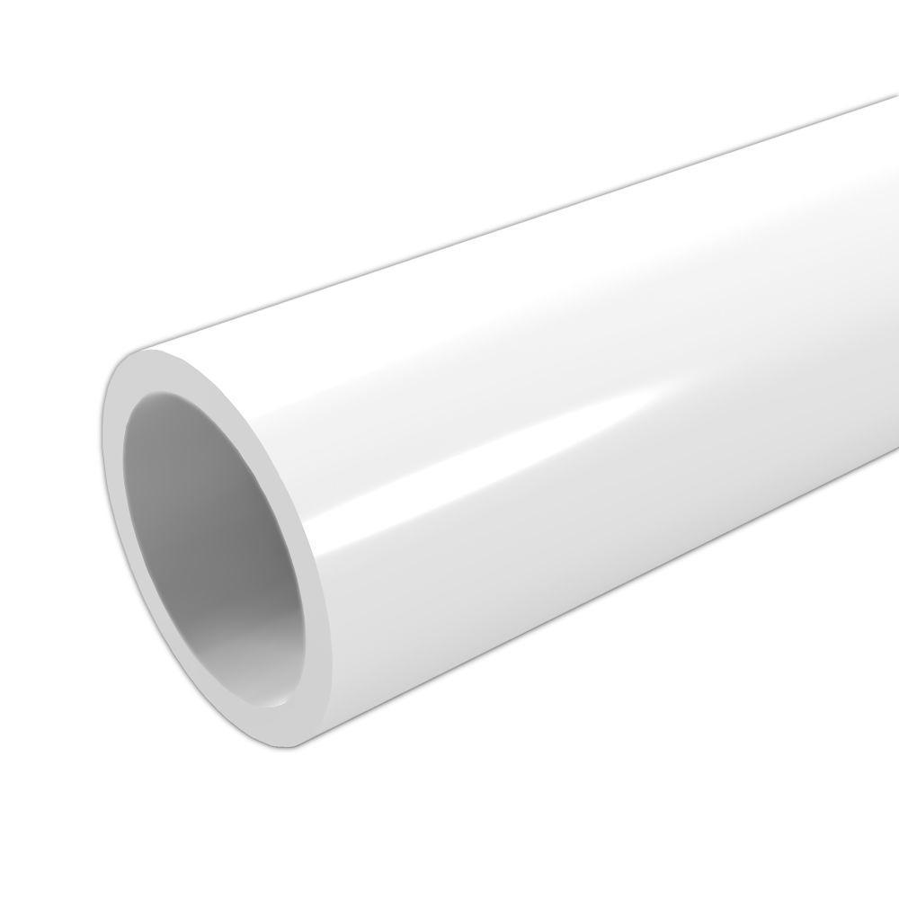 PVC pipe - color white