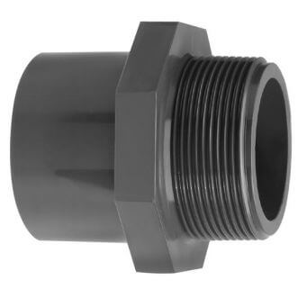 PVC threaded end (glue socket x external thread)