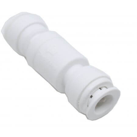 Straight extender for osmosis hose 9mm - 2 x quick-fit incl check valve