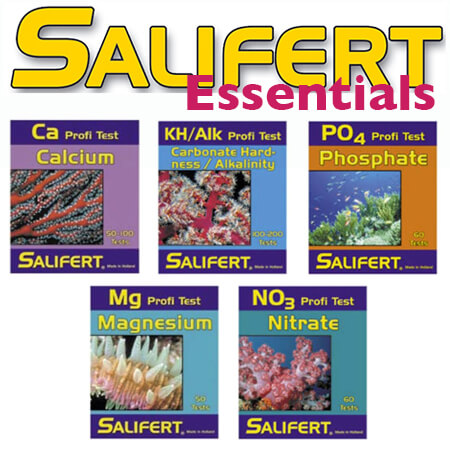 Salifert essentials testkit (Ca, KH, Mg, No3, Po4)