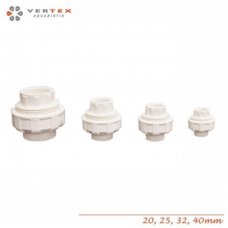 Vertex PVC WHITE coupling